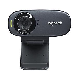 Logitech C310 webcam, 5 MP, 1280 x 720 pixels, 720p, USB, Noir, Clip 960-001065