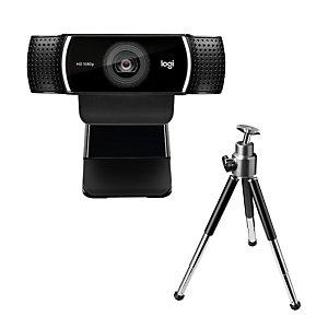Logitech C922 Pro Stream Webcam, 1920 x 1080 pixels, 60 ips, 1280x720@60fps,1920x1080@30fps, 720p,1080p, H.264, USB 960-001088