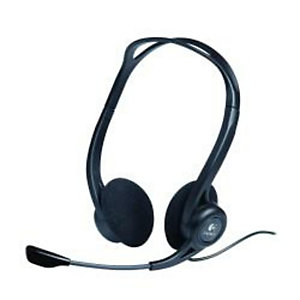 Logitech, Cuffie e auricolari, Headset pc960 stereo usb busines, 981-000100