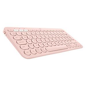Logitech K380, Mini, Bluetooth, AZERTY, Rosa 920-009585