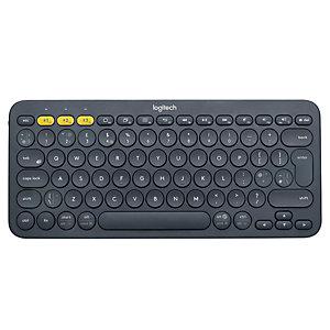 Logitech K380 Teclado Inalámbrico, Multidispositivo, Bluetooth, negro