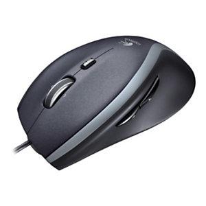 Logitech LGT-M500, mano derecha, Laser, USB, 1000 DPI, Negro 910-003726