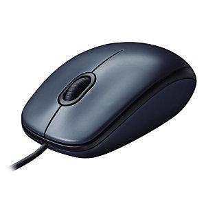 Logitech M100 - muis - USB - zwart