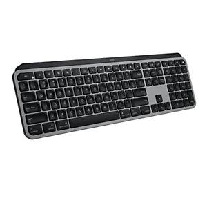 Logitech MX Keys for Mac, Standard, RF sans fil + Bluetooth, AZERTY, Aluminium, Noir 920-009554
