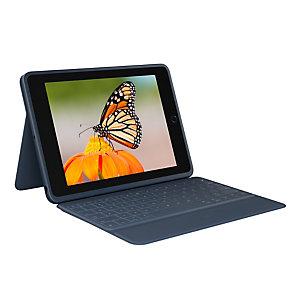 Logitech Rugged Combo 3, Inglés del Reino Unido, 1,8 cm, 1,2 mm, Apple, iPad (7th generation) Model: A2200, A2197, A2198 iPad (8th generation) Model: A2270, A2428, A2429,..., Azul 920-009658