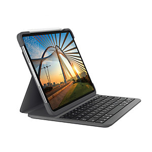 Logitech Slim Folio Pro, QWERTY, Español, 1,9 cm, 1,6 mm, Apple, iPad Pro 12.9-inch (3rd generation) (Model: A1876, A1895, A1983, A2014) iPad Pro 12.9-inch (4th... 920-009708