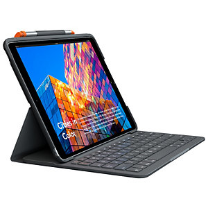 Logitech Slim Folio, QWERTY, Español, Apple, iPad Air (3rd gen) (A2123, A2152, A2153, A2154), Grafito, Inalámbrico 920-009487
