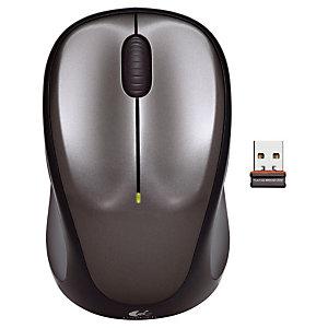 Logitech Wireless Mouse M235 - Souris - Optique - 3 boutons - Sans fil - USB - Noir