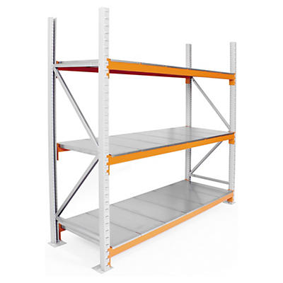 Longspan heavy duty warehouse steel shelving starter and extension bays