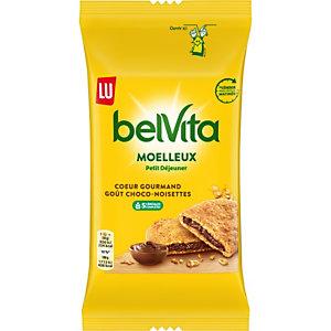 LU Belvita gâteaux moelleux Petit déjeuner, cœur gourmand chocolat-noisettes - Sachets fraîcheur de 50 g