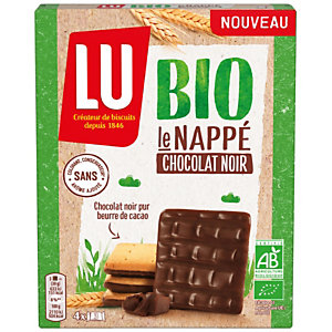 LU le Nappé biscuits Bio chocolat noir - Boîte de 120g