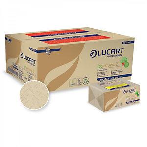 LUCART Asciugamano di carta piegato a Z EcoNatural Z, 2 veli, Naturale (18 pacchi da 220 pezzi)