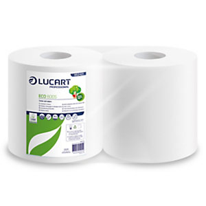 Lucart Bobina asciugatutto Speedy Eco - 2 veli - 44gr - diametro 25,5 cm - 25 cm x 171 mt - microgoffrata - Lucart