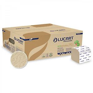 LUCART Carta igienica interfogliata in Fiberpack®, interfogliato 10 x 21 cm, 2 veli, Avana.