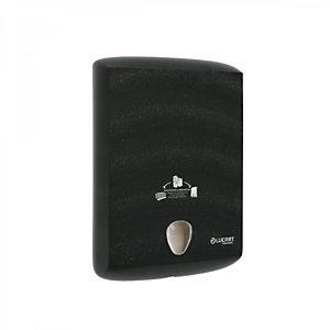 LUCART Dispenser per asciugamani piegati in Al.Pe.®, 400 x 290 x 130 mm, Nero.