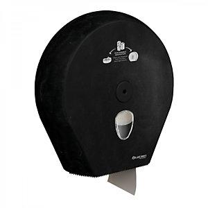 LUCART Dispenser per carta igienica Mini e Maxi Jumbo in Al.Pe. ®, 335 x 335 x 128 mm, Nero.