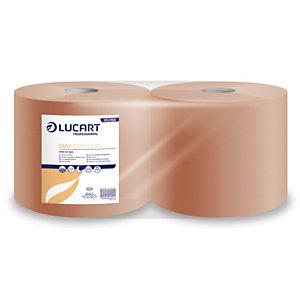 LUCART Essuie-tout papier recyclé double épaisseur - Bobine chamois 1000 feuilles 26 x 35 cm