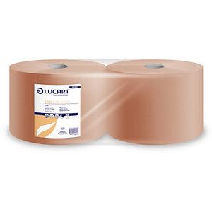 LUCART Essuie-tout papier recyclé double épaisseur - Bobine chamois 1500 feuilles 22 x 30 cm