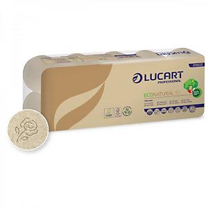 LUCART Rotolo di carta igienica EcoNatural 10, 2 veli, Naturale (confezione 10 pezzi)