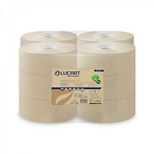 LUCART Rotolo di carta igienica Jumbo EcoNatural 150, 2 veli, Naturale (confezione 12 pezzi)