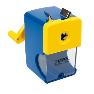 LYRA Temperamatite a manovella con contenitore - 1 foro - Lyra