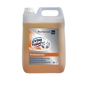 Lysoform Professional Pulito Sicuro, Detergente disinfettante, Original, Arancione, Tanica 5 litri