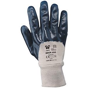 MaC-TuK Guanto da lavoro BROK 600 in tessuto jersey di cotone impregnato in NBR, Taglia 8