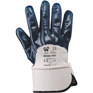 MaC-TuK Guanto da lavoro BROK 700 in tessuto jersey di cotone impregnato in NBR, Taglia 9