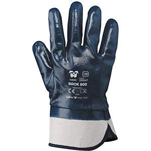 MaC-TuK Guanto da lavoro BROK 800 in tessuto jersey di cotone impregnato in NBR, Taglia 11