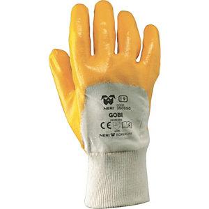 MaC-TuK Guanto da lavoro GOBI in tessuto jersey di cotone impregnato in NBR, Taglia 10