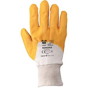 MaC-TuK Guanto da lavoro SONORA in tessuto jersey di cotone impregnato in NBR, Taglia 9 (confezione 12 paia)