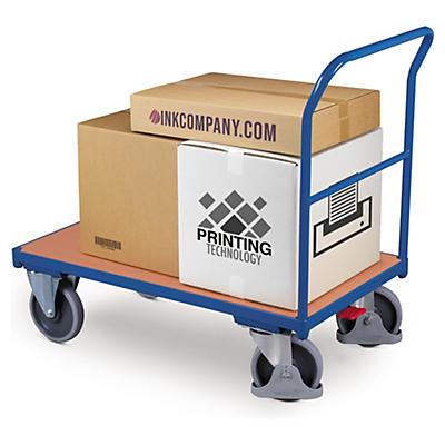 Magazinwagen mit Holzboden und zentraler Bremse