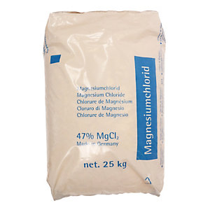 Magnesiumchloride strooizout, zak van 25 kg