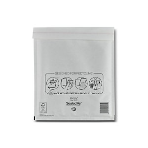 MAIL LITE 10 enveloppes matelassées, AirCap®, kraft, Mail Lite Tuff, format E2, 260 x 220 mm, blanc