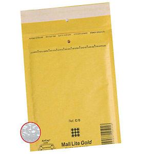 MAIL LITE 100 Pochettes d'expédition à bulle d'air, brun, pour DVDs