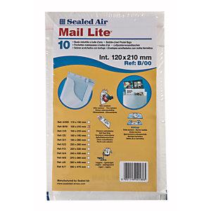 Mail Lite® Bolsa de papel de burbujas nº 12 - 120 x 210 Kraft blanco