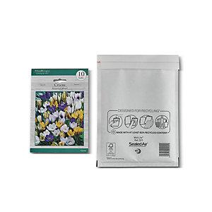 Mail Lite® Bolsa de papel de burbujas nº 14 Kraft blanco