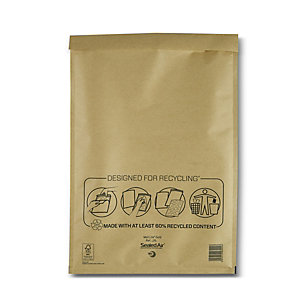 Mail Lite® Bolsa de papel de burbujas nº 19 Kraft marrón