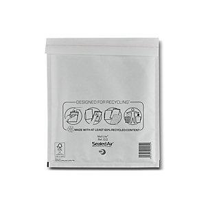 Mail Lite® Busta postale imbottita Bianco 220x260 mm A bolle d'aria Adesivo (confezione 100 pezzi)