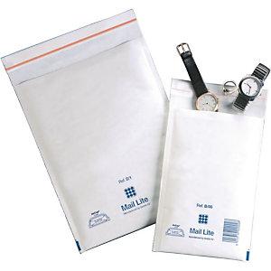 Mail Lite® Mail Lite, Busta imbottita a bolle d'aria, AirCap®, Autoadesiva, Carta Kraft, F3, 330 x 220 mm, Bianco (confezione 10 pezzi)