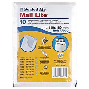Mail Lite® Mail Lite, sobre con burbujas, 110 x 160mm, AirCap®, autoadhesivo, papel kraft, blanco
