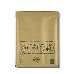 Mail Lite® Sobre con burbujas, H5, 360 mm x 270 mm, acolchado deslizante, cierre autosellable, papel kraft, dorado