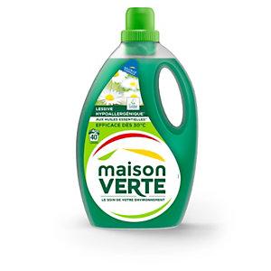 Maison Verte Lessive liquide hypoallergénique - 40 lavages - Bidon 2,4 L - Fraîcheur d'été