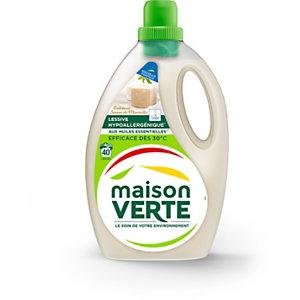 Maison Verte Lessive liquide hypoallergénique - 40 lavages - Bidon 2,4 L - Savon de Marseille