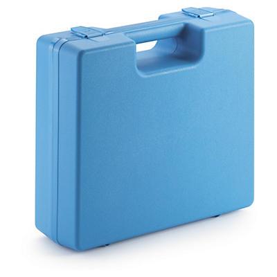 Mallette plastique de couleur à poignée intégrée