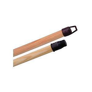 Manche à balai en bois à visser - Hauteur 1,30 m