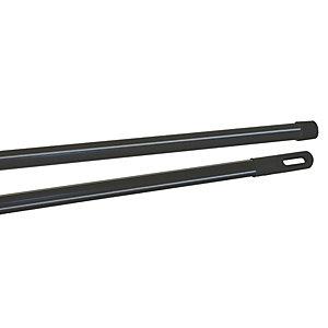 Manche métal gainé - 120 cm Noir rayé gris