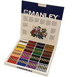 MANLEY Estuche de 192 ceras en colores surtidos