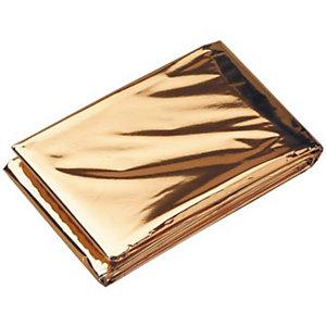 Manta isotérmica oro-plata de 160 x 210 cm