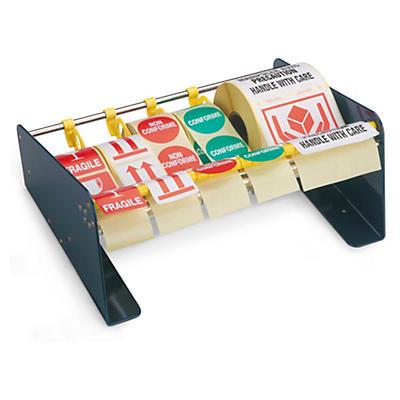Manuele dispenser voor verpakkingsetiketten en verzendetiketten